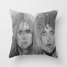 The eyes of Heart Throw Pillow