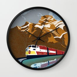 vintage CP rail poster Wall Clock
