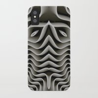 exo iPhone & iPod Cases featuring Exo-skelton 3D Optical Illusion by BohemianBound