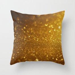Glitter Bokeh Texture 7 Throw Pillow