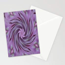 Abstracted Twirl Pink Hydrangea Flowers Stationery Cards