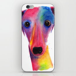 Nosey Dog Whippet Greyhound ' BeLLa ' by Shirley MacArthur iPhone Skin