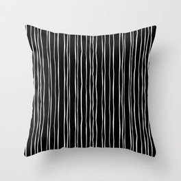 Wide Black Stripe Throw Pillow
