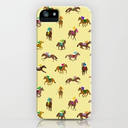 To The Horse Races (Yellow) iPhone Case