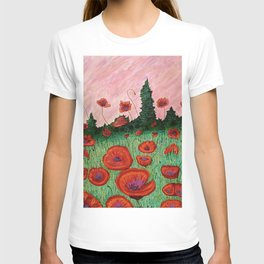 Fields of Red T-shirt