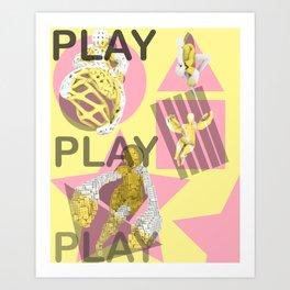 Play. (B) Art Print