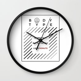 Works Out Loves Donuts Wall Clock