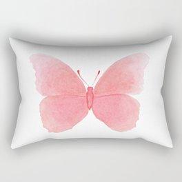 Watermelon pink butterfly Rectangular Pillow
