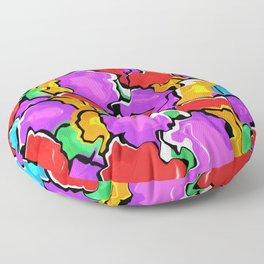 Colorful Scrambled Eggs Floor Pillow