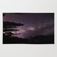 milky way Area & Throw Rugs featuring Milky Way by Holly O'Briant