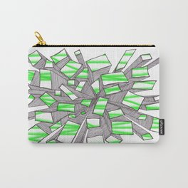 Green Fragmentation Carry-All Pouch