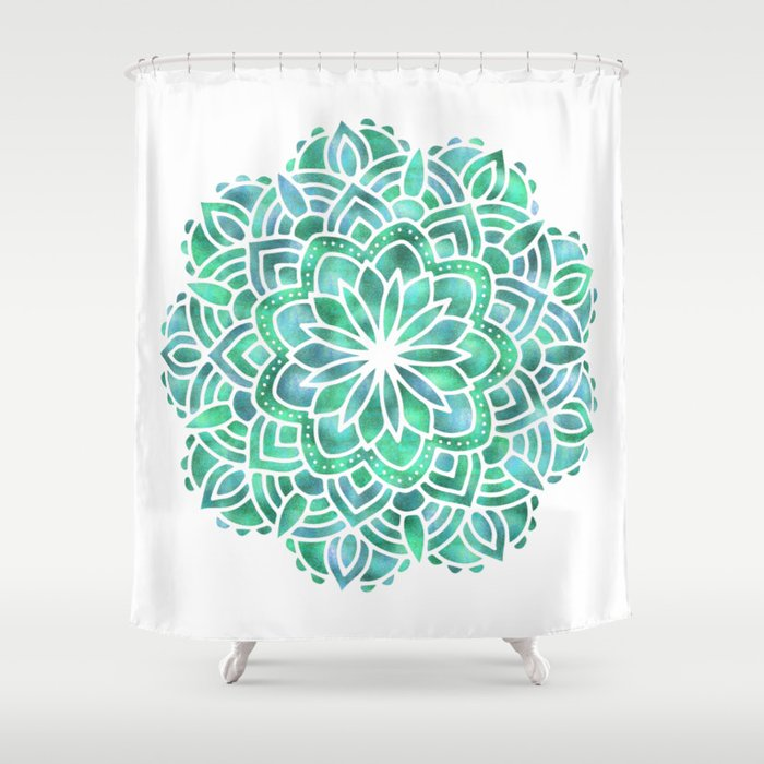 Mandala Southwest Succulent Shower Curtain