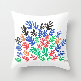 Henri Matisse, Cut Out Colored Papers 1953 Artwork for Wall Art, Prints, Posters, Tshirts, Men, Women, Kids Throw Pillow