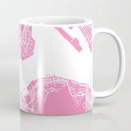 Hong Kong map pink Coffee Mug