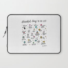 Stressful Day To-Do List Laptop Sleeve