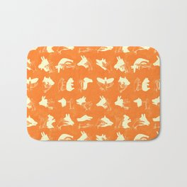 ACME Orange Shadow Puppets Bath Mat