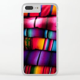 Guatemalan Blankets in Antigua Clear iPhone Case