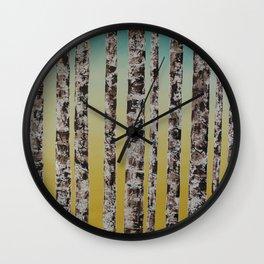 Birch Jail Wall Clock