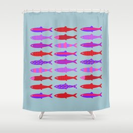 Colorful fish school pattern Shower Curtain