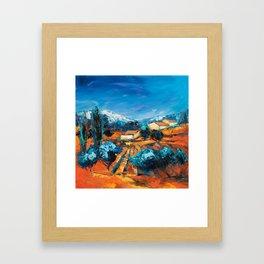 Sulla Collina Framed Art Print