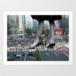 Tokyo Chihuahua Art Print