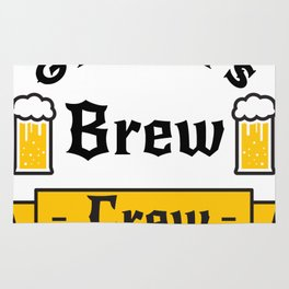Groom Funny Groom's Brew Crew Rug
