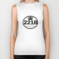 221b Biker Tanks featuring 221B by Lugonbe