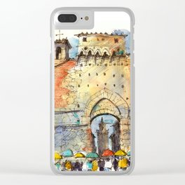 Gate of San Gimignano, Tuscany Clear iPhone Case