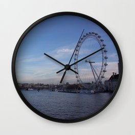 London Eye and Thames 1 Wall Clock