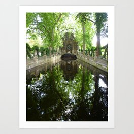 Gardens of Luxemborg Art Print