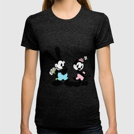 Oswald and Ortensia: Flowers (technicolor) T-shirt