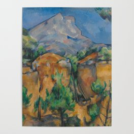 The Montagne Sainte-Victoire seen from the Bibémus quarry Poster