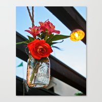 outdoor Canvas Prints featuring Outdoor Decor by Kim Ramage