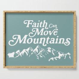 Retro Faith can Move Mountains Serving Tray