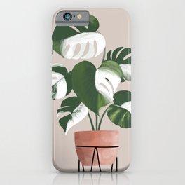 White Monstera Deliciosa iPhone Case