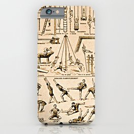 Exercise Poster - vintage French Gym iPhone Case