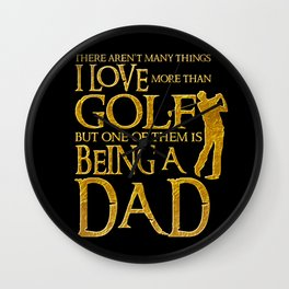 I Love Golf - Golfer Men Gift for Dad Wall Clock