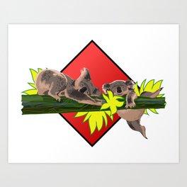 two koalas Art Print