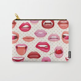 Lips and Fangs Carry-All Pouch