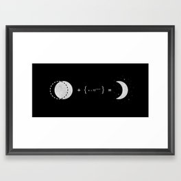 The Law of Crescent Moon Framed Art Print