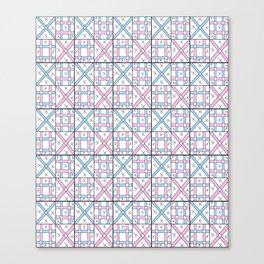 symetric tartan and gingham 26 -vichy, gingham,strip,square,geometric, sober,tartan Canvas Print