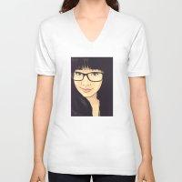 geek V-neck T-shirts featuring Geek by FalcaoLucas
