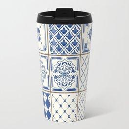 Blue Ceramic Tiles Travel Mug