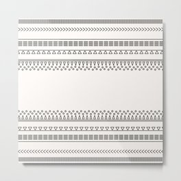 Tribal Pattern of Balondo Metal Print