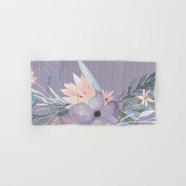 Striped Floral Lavender Bouquet Hand & Bath Towel