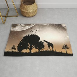 Nature silhouettes Rug