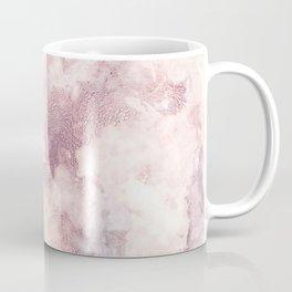 Elegant rose faux gold pink gray luxury marble pattern Coffee Mug