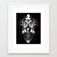horror Framed Art Prints featuring Horror by Lowercase Industry