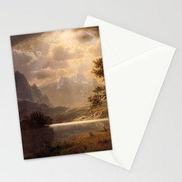 Estes Park Colorado 1869 By Albert Bierstadt | Reproduction Painting Stationery Cards