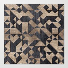 Geometric Wooden texture pattern Canvas Print